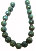 Bead Collection 40136 Ceramic Turquoise Round 10M Beads, 20cm