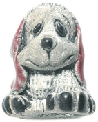 Shipwreck Beads 17 by 20mm Peruvian Hand Crafted Ceramic Puppy Dog Beads, Red, 3 Per Pack