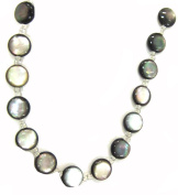 Bead Collection 40155 Shell Black Disc Beads, 23cm