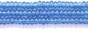 Preciosa Ornela Czech Seed Bead, Transparent Sapphire, Size 10/0