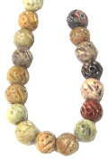 Bead Collection 40427 Soapstone Amber Beads, 25cm