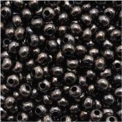 Genuine Metal Seed Beads 8/0 Gun Metal 40 Grammes
