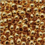 Genuine Metal Seed Beads 6/0 24KT Gold Plated 30 Grammes