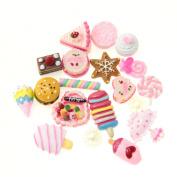 50 pcs Mixed Food kawaii flat back resin cabochons DIY decoration Cell Phone Nail Art Beauty Ornament Design hair snap beads resin beads (IMG1439