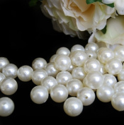 18 mm Ivory Pearls Faux Imitation Plastic Beads - 1 lb lots
