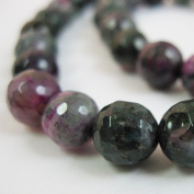 Purple and Green Agate Beads - Faceted Round 8mm