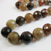 Multi Coloured Agate Beads - Faceted Round 10mm