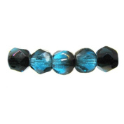 Mode Beads Czech Glass Fire Polished Beads, 300 Beads, Aqua Zarit