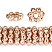 Rose Gold Plated Copper Bead Daisy Spacer Approx. 4mm Approx. 8 inch