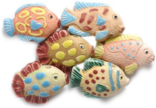 Shipwreck Beads 27 by 12mm Peruvian Hand Crafted Ceramic Fish Assortment Beads , Assorted Colour, 10 per Pack