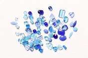 Bravery Dazzle JTMIX-3 Pressed Glass Beads, Blue