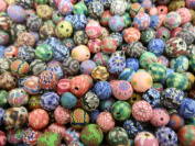 100 Fimo Polymer Clay Round Beads 9mm-11mm Assorted Colours