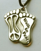 Walk in Peace - Pewter Pendant Jewellery - World Peace Necklace