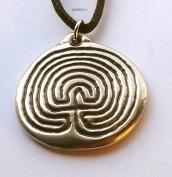 Labyrinth - Pewter Pendant - Meditation, Earth Grounding Jewellery, Awakening Necklace