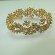 Golden Floral. Hand-Made bracelet