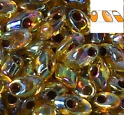 100 Grammes Light Topaz Rainbow Garnet Lined 4x7mm Miyuki Long Magatama Japanese 800 Glass Fringe Seed Beads