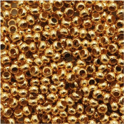 Genuine Metal Seed Beads 11/0 24KT Gold Plated 15 Grammes
