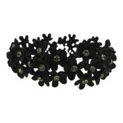 Black Floral. Hand-Made bracelet