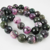 Purple and Green Agate Beads - Faceted Round 10mm