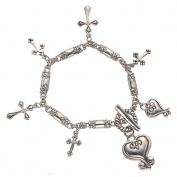 Alexa's Angels Love Is... Cross Charm Bracelet
