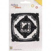 Nellie's Choice Multi Frame Dies- MFD040 Square Butterfly Package Has 5 Dies - Butterfly Centre and 4 Squares