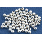 75 Ball Beads Sterling Silver Bead String Round Part