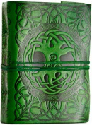 Tree of Life leather Green w/ cord