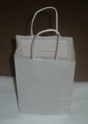 White Paper Bags with Handle Medium 12/pack 5.5x3.5x8