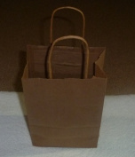 Gold Paper Bags with Handle Medium 12/pack 5.5x3.5x8
