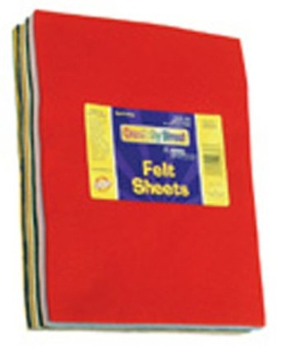 Chenille Kraft Company : Felt Sheets, One pound Of 23cm x 30cm , Assorted Colours -:- Sold as 2 Packs of - 30 - / - Total of 60 Each