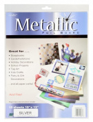 Grafix Silver Metallic Foil Board 25cm -by-33cm , Pack of 10