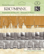 K & Company Beyond Postmarks Collection Metallic Paper Border