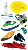 Jolee's Boutique Dimensional Stickers, Water Sports