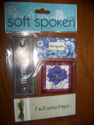 Me & My Big Ideas SOFT SPOKEN Embellishments - MEMORIES - Scrapbook & Card Making
