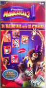 Dreamworks Madagascar 3 - 34 Valentines with 35 Stickers