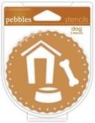 American Crafts - Pebbles - Chalk Stencils - Dog