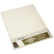 Crystal 3-ring Large Deluxe Scrapbook Page Refills Creme 5pk