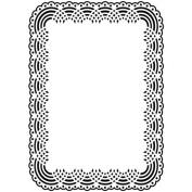 Darice Doily Background Embossing Folder, 13cm by 18cm