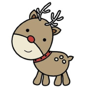 Snag 'em Stamps Reindeer Unmounted Clear Stamp