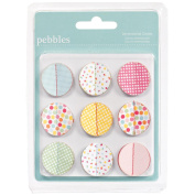 American Crafts - Pebbles - Hip Hip Hooray Collection - Stitched Dimensional Circles