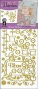 Dazzles Stickers: Blooms Gold