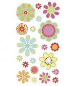 Sticko Vellum Stickers-Pretty Floral Glitter