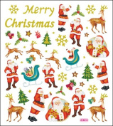 Multi-Coloured Stickers-Glitter Merry Christmas