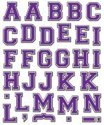 K & Company Purple Basic Alphabet Die-cut Stickers