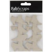 Fabscraps Die-Cut Chipboard Embellishment, Shoes Border, 11cm by 9.4cm