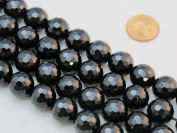 Black Onyx 14mm Faceted Beads Round 15.5'' Per Strand