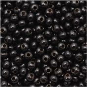 Genuine Metal Seed Beads 8/0 Black Finish 36 Grammes