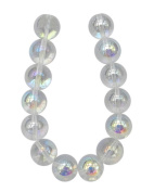 Tennessee Crafts 1923 Glass Beads Round, 16mm, 14-Piece, Crystal AB finish