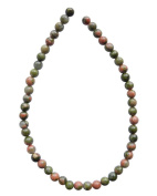 Tennessee Crafts 1410 Semi Precious Green Unakite Round Beads, 4mm
