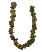 Tennessee Crafts 1443 Semi Precious Tiger Eye Nuggets Beads, 8 by 10mm, Yellow